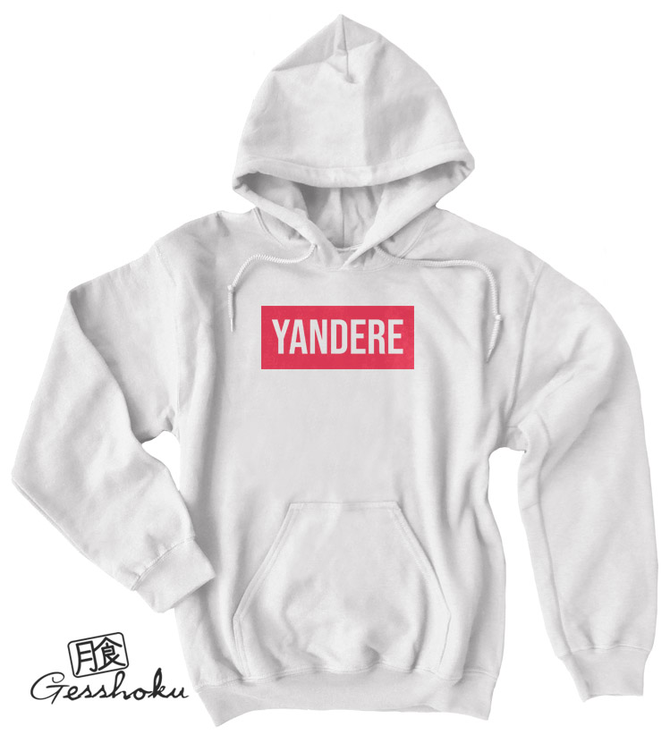Yandere Pullover Hoodie - White