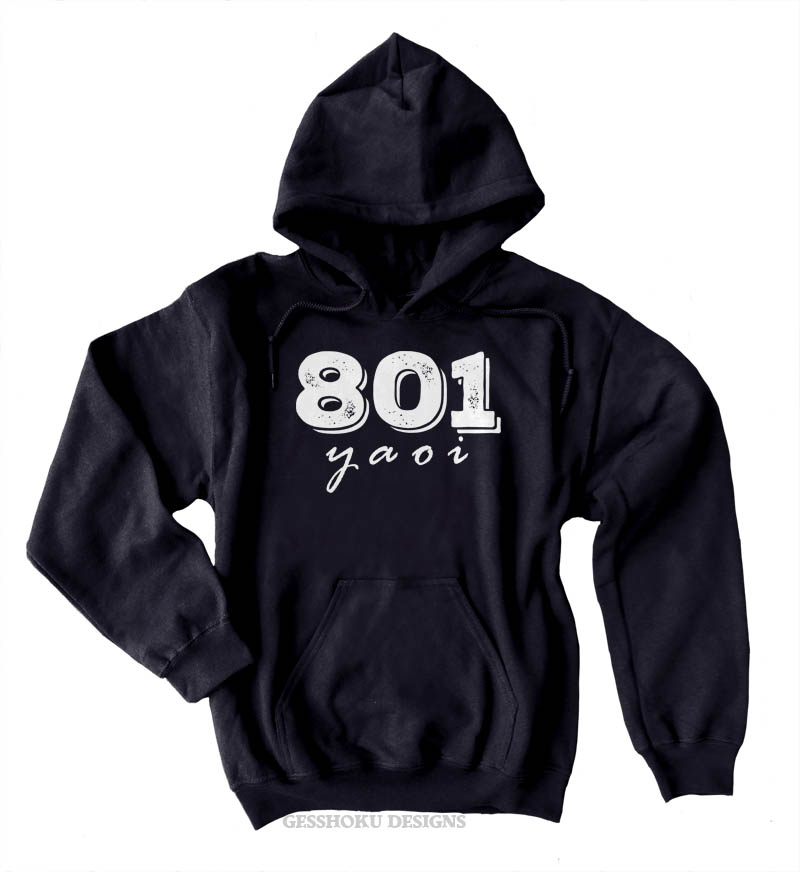 801 YAOI Pullover Hoodie - Black