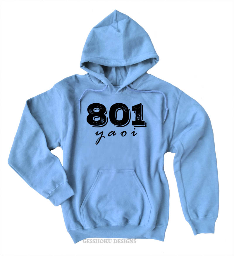 801 YAOI Pullover Hoodie - Light Blue