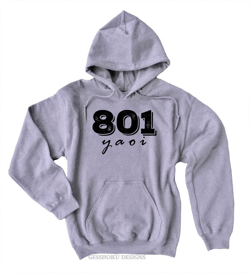 801 YAOI Pullover Hoodie - Light Grey
