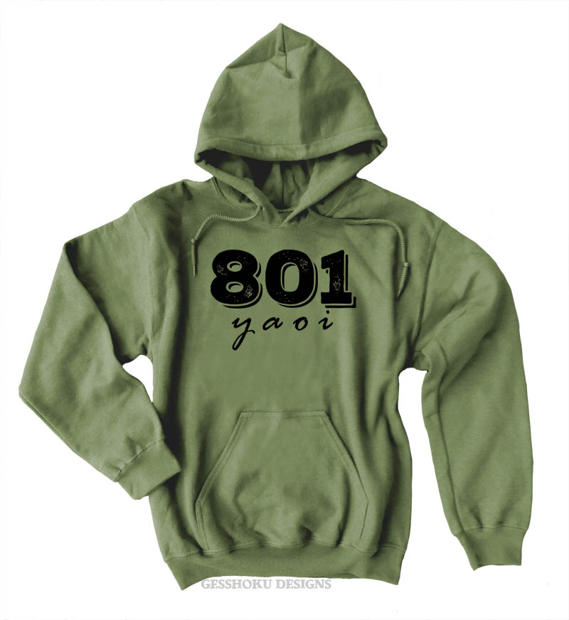 801 YAOI Pullover Hoodie - Olive Green