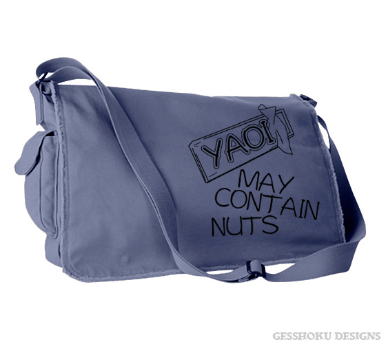 Yaoi May Contain Nuts Messenger Bag - Denim Blue
