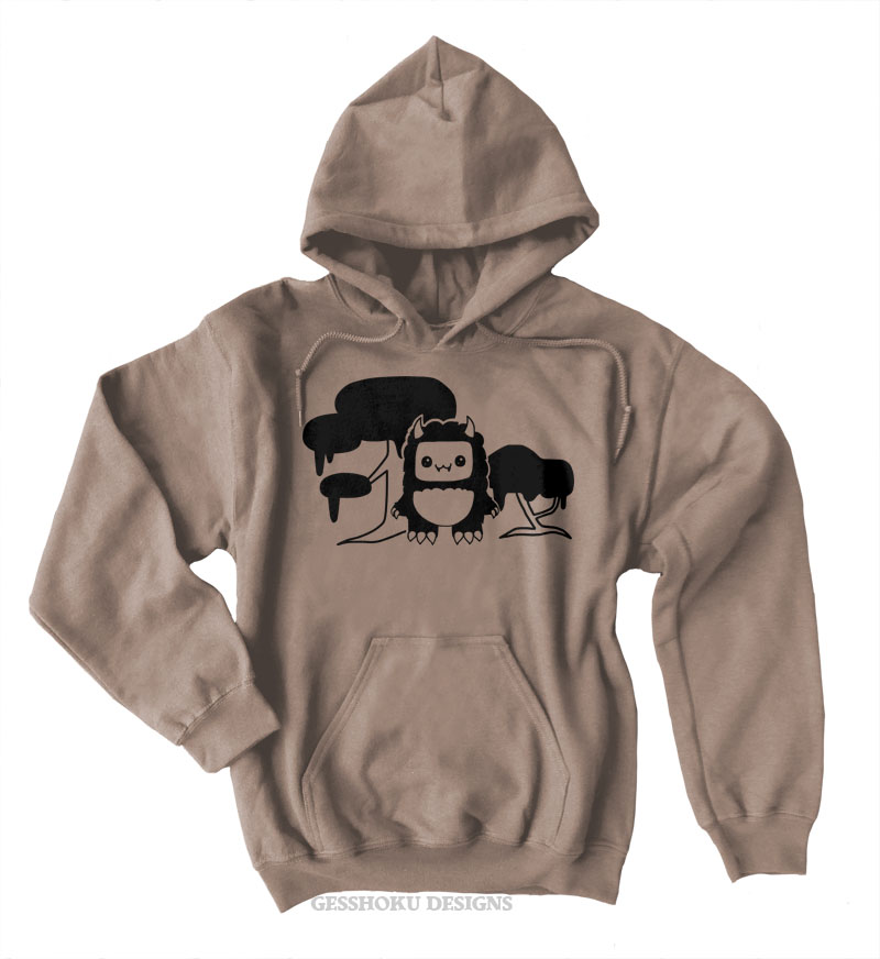 Tricky Yeti's Magical Forest Pullover Hoodie - Khaki Brown