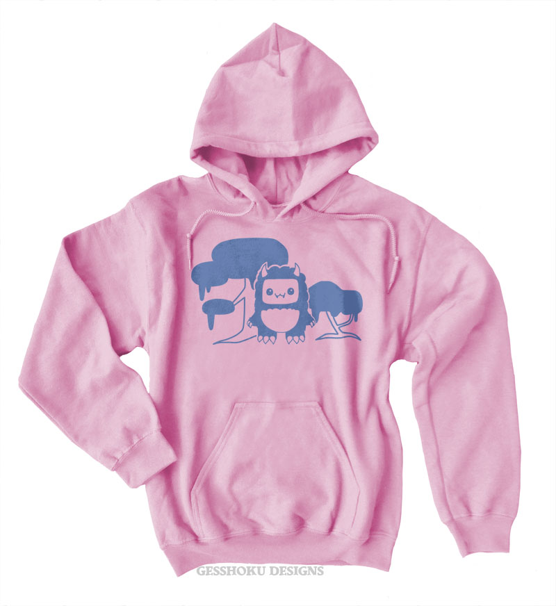 Tricky Yeti's Magical Forest Pullover Hoodie - Light Pink
