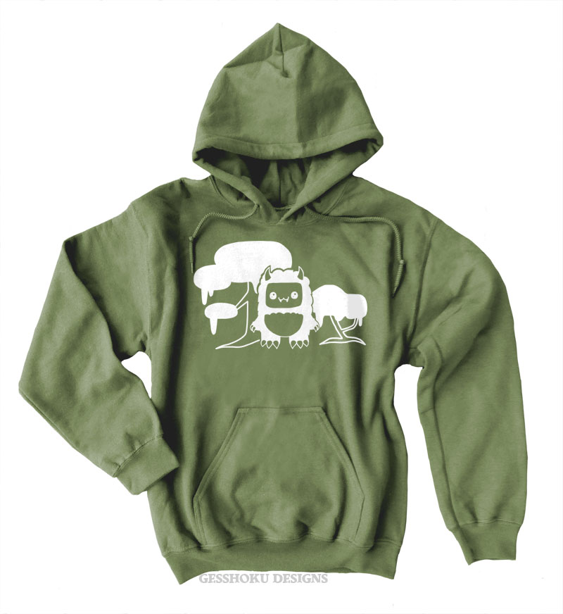 Tricky Yeti's Magical Forest Pullover Hoodie - Olive Green