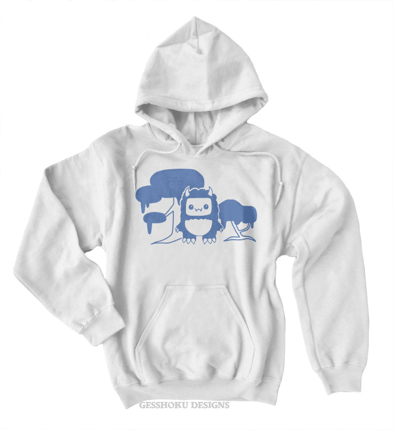 Tricky Yeti's Magical Forest Pullover Hoodie - White