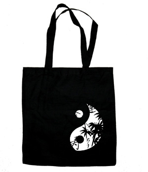 Asian Pattern Yin Yang Tote Bag